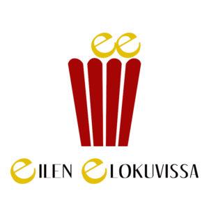 Eilen elokuvissa -blogin logo. Suunnittelu: Mari Pyykkönen.